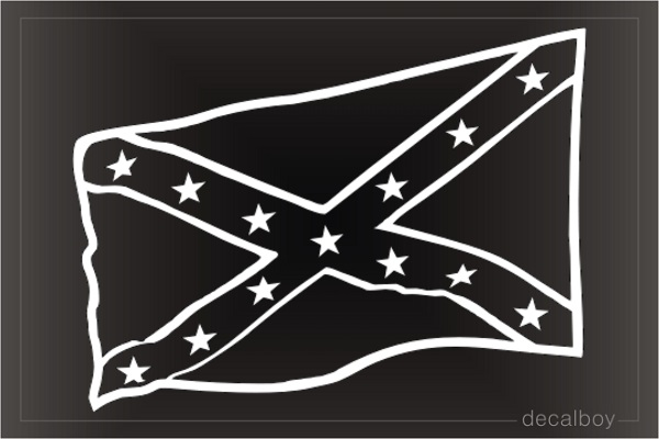 Rebel Flag 2 Decal