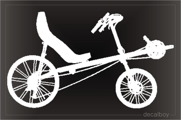 Recumbent Bicycle Window Decal