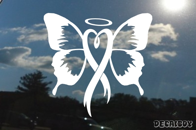 Ribbon Butterfly Decal