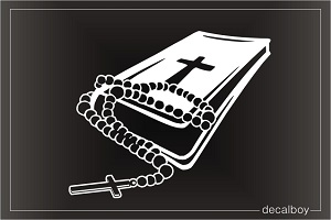Rosary Bible Window Decal