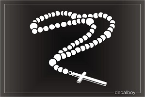 Rosary Window Decal
