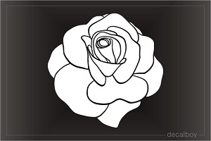 Rose Flower Head Decal