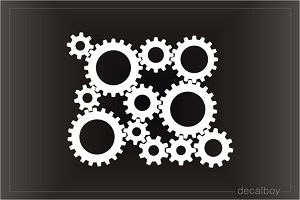 Rotating Gears Decal