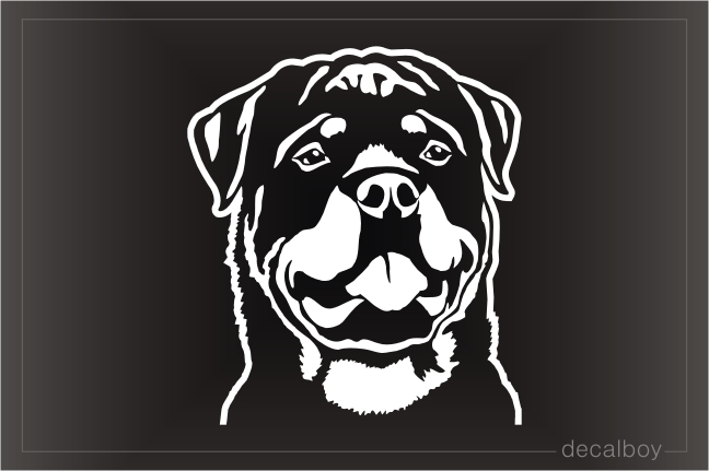 Rottweiler Dog Head Decal