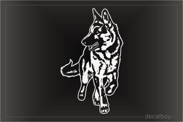 Running German Shepherd Decal