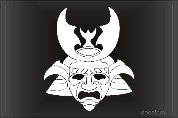 Samurai Japanese Warrior Mask Decal