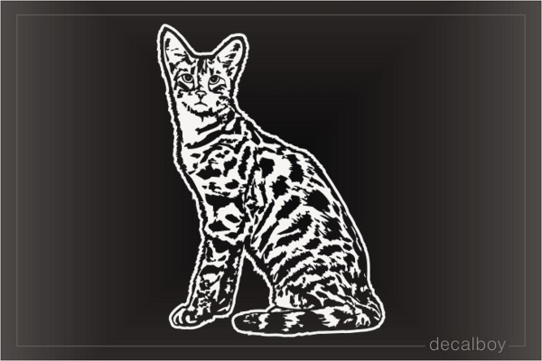 Savannah Cat Decal