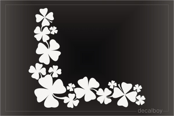 Shamrock Clover Leaf Window Decal