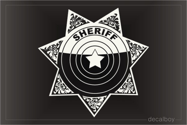 Sheriff Star Misc Decals Stickers In Loving Memory Car Window Decals