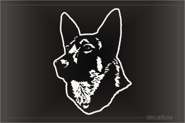 Shiloh Shepherd Dog Face Decal