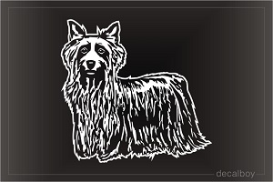 Silky Terrier Dog Window Decal