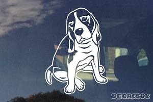 Sitting Beagle Dog Decal