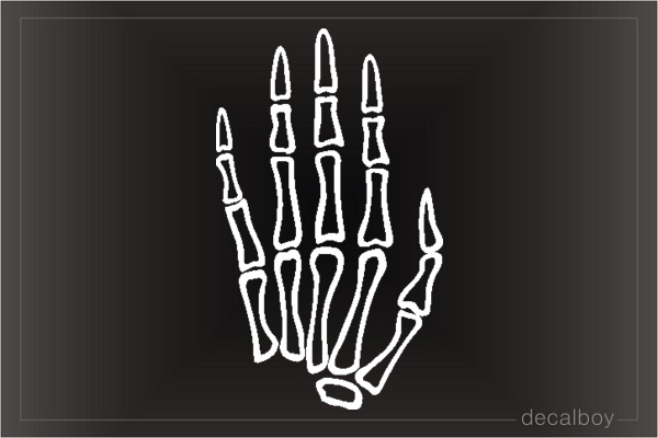 Skeleton Hand Car Decal