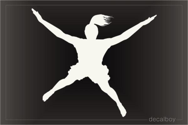 Skydiver Girl Skydiving Decal