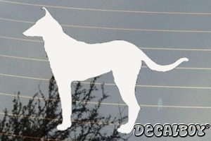 Smooth Collie Dog Silhouette Car Window Decal