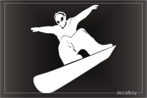 Snowboarding Free Style Window Decal