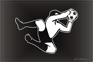 Soccer Goalie Window Decal
