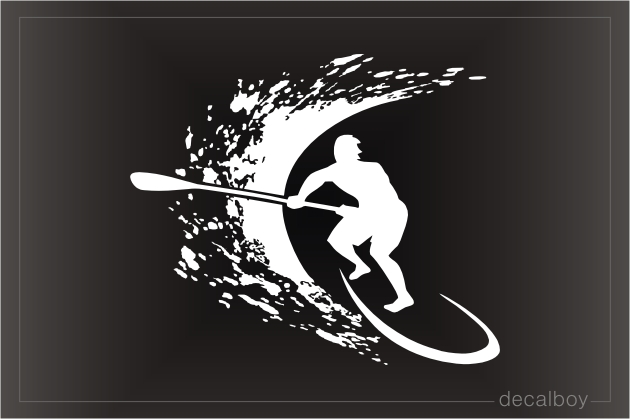 Stand Up Paddling Decal