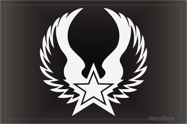 Star Angel Wings Decal