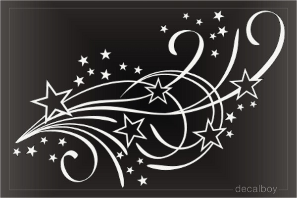 Shooting Stars Decals Amp Stickers Decalboy