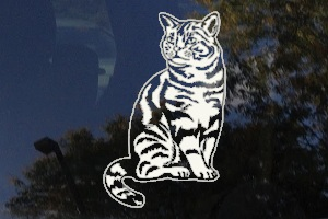 Stripped Tabby Cat Car Window Decal