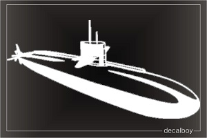 Submarine Navy Car Decal