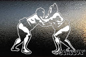 Sumo Wrestlers Window Decal