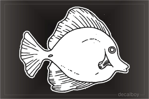 Surgeon Fish Window Decal