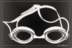 Swimming Goggles Decal