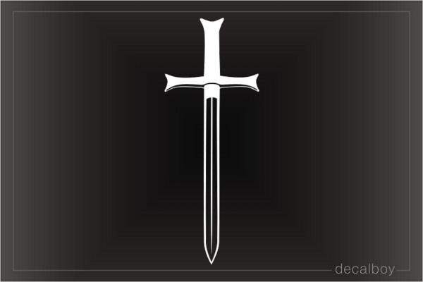 Sword Cross Car Decal