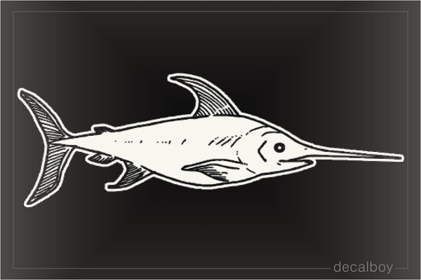 Swordfish Window Decal