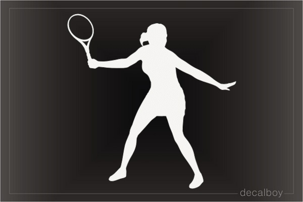 Tennis Girl Decal