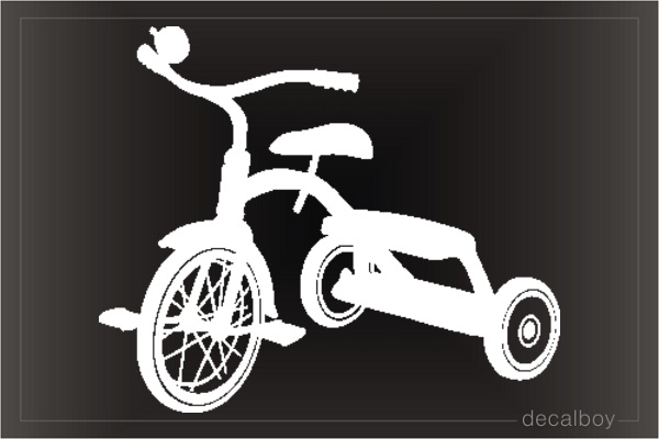 Three Wheel Kid Bike Car Decal