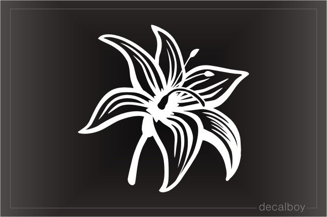 Tiger Lilly Window Decal