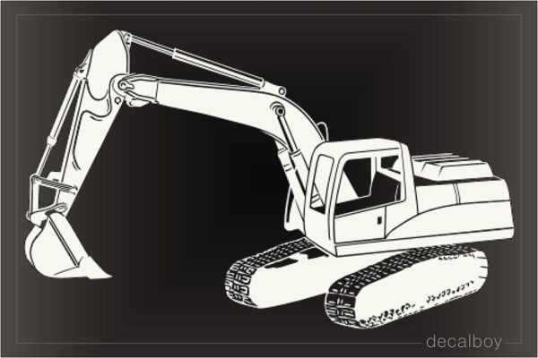 Track Excavator Tractor Decal