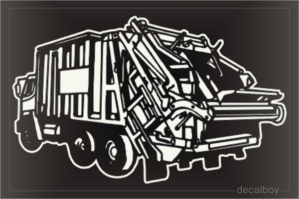 Trash Truck Car Decal