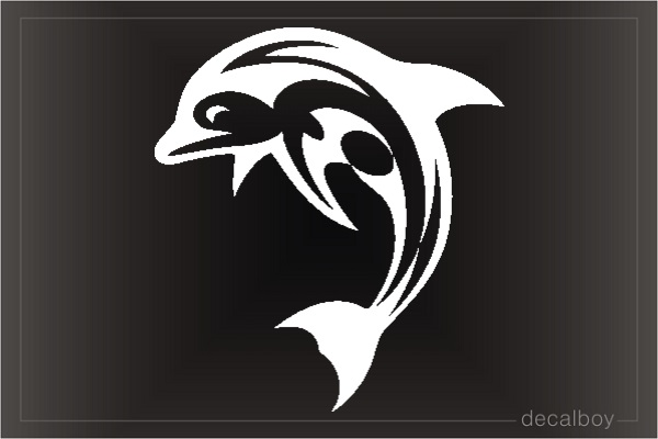 Tribal Dolphin Window Decal