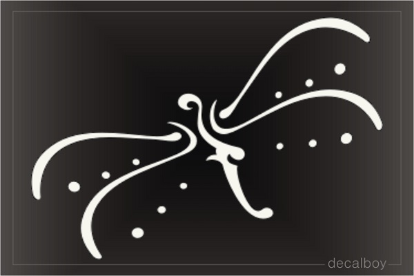 Tribal Dragonfly Tattoo Window Decal