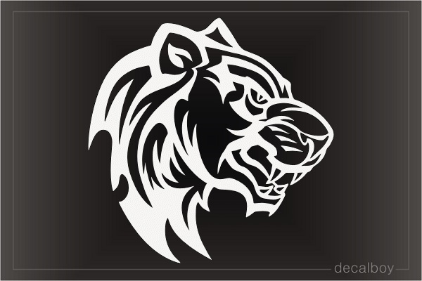 Tribal Panther Leopard Face Decal