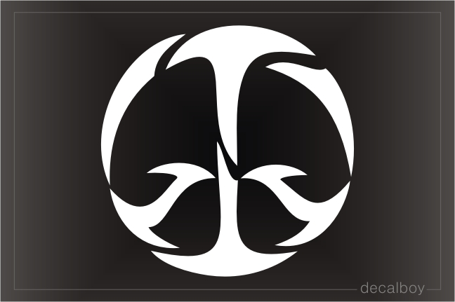 Tribal Peace Symbol Decal