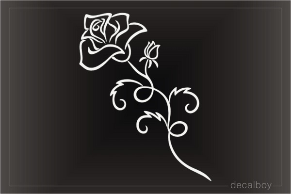 Tribal Rose Art Decal