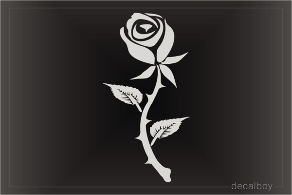 Tribal Rose Flower Tattoo Window Decal
