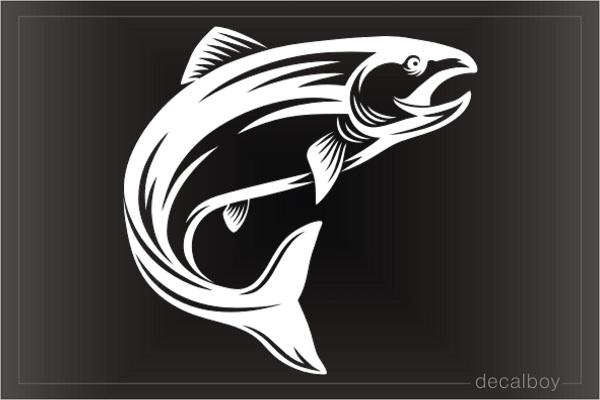 tribal salmon fish Decal