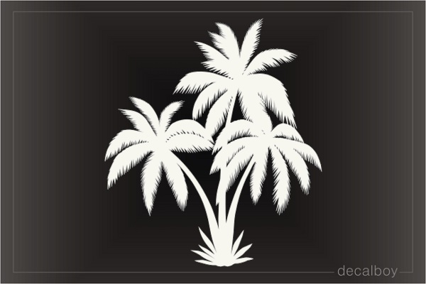 Triple Palm Trees Decal