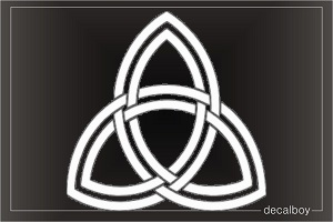 Trinity Triquetra Sign Symbol Tattoo Window Decal