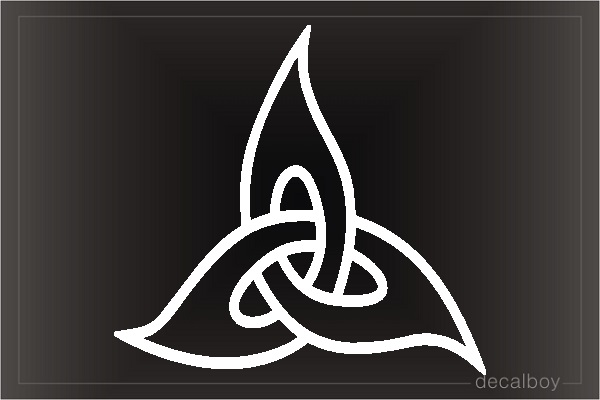 Triquetra Tribal Sign Symbol Tattoo Window Decal