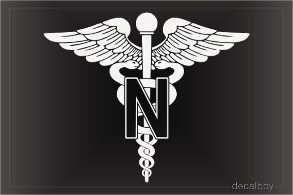 US Army Military Nurse Decal