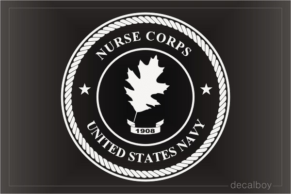 US Navy Nurse Corps Decal