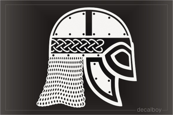 Viking Helm Mask Decal