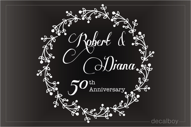 Wedding Anniversary Decal
